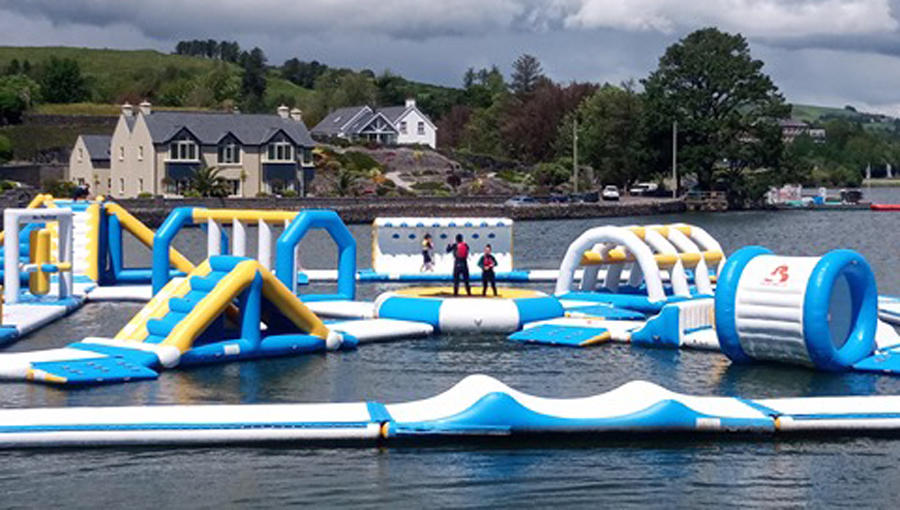 Bouncia Inflatable Water Park For Lake