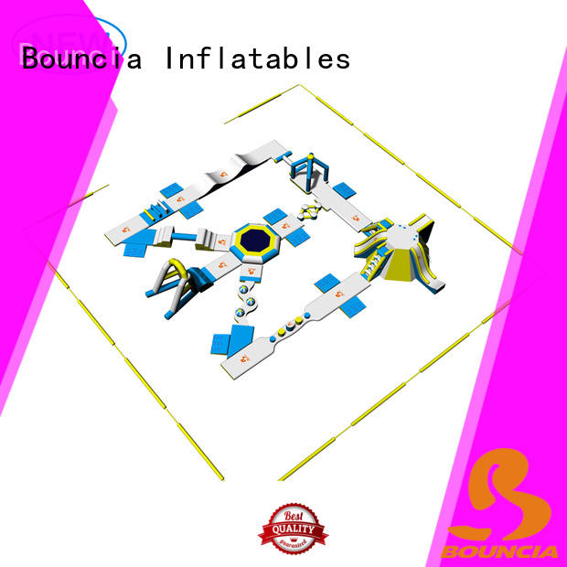Bouncia stable inflatable water obstacle course factory price for kids