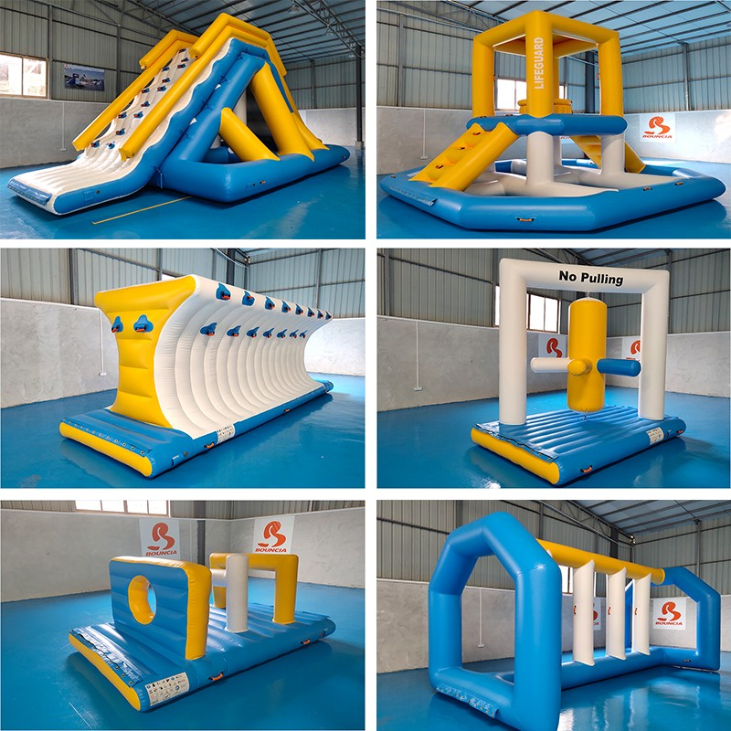 Bouncia splash bounce inflatable theme park Supply for lake-8