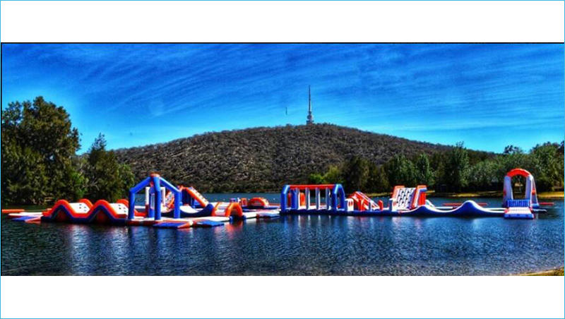 Australia 170 Capacity Inflatable Water Park For Kids And Adults