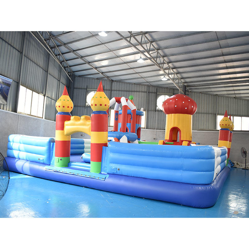 Factory Direct Price Fun City Floating Kids Bouncy Castle For Sea or Lake