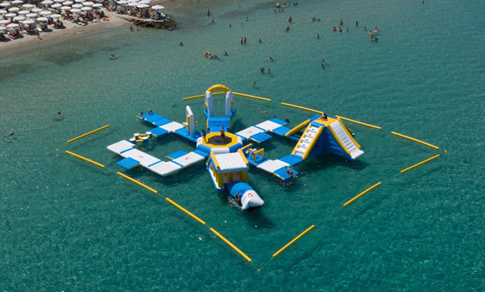 55 Capacity Floating Inflatable Water Park In Grecce