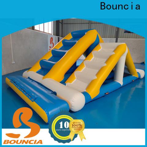 Bouncia slide inflatable splash park customized for pool