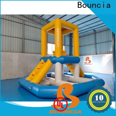 Bouncia floating large inflatable water slides Suppliers for adults