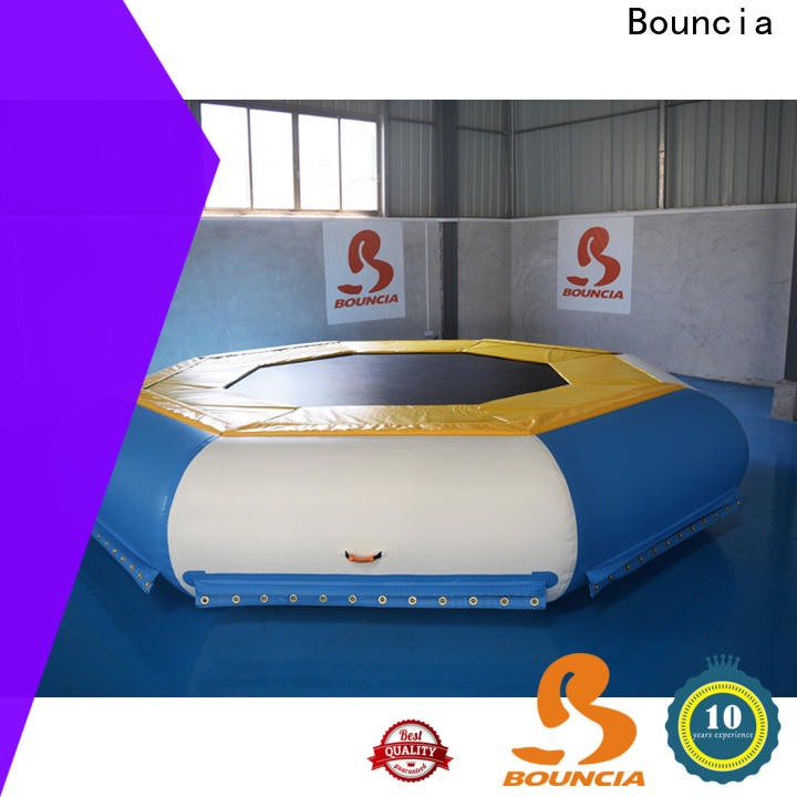 Bouncia floating kids inflatable water slide Supply for outdoors