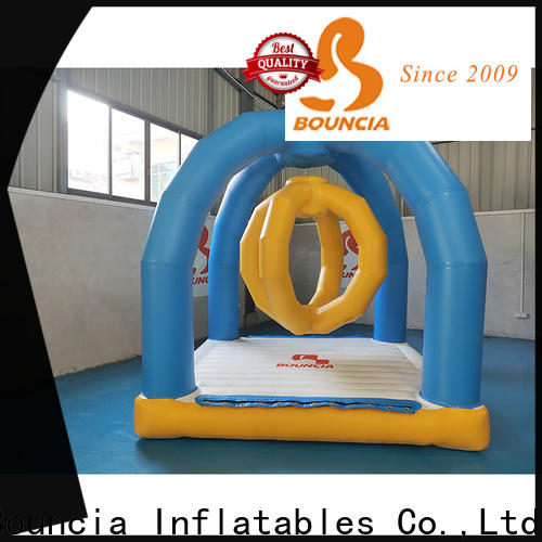 Bouncia one station aqua park equipment factory for pool