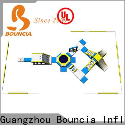 Bouncia park slippery slide for swimming pool factory for lake