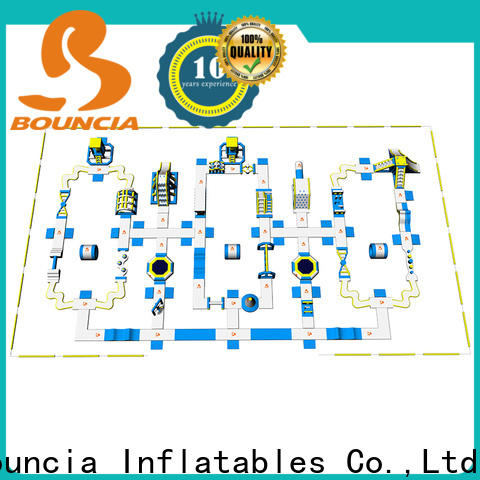 Bouncia pvc air blow up water slides factory for kids