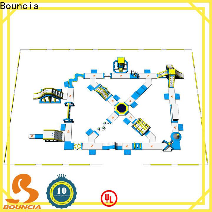 Bouncia open inflatable splash park Suppliers for kids