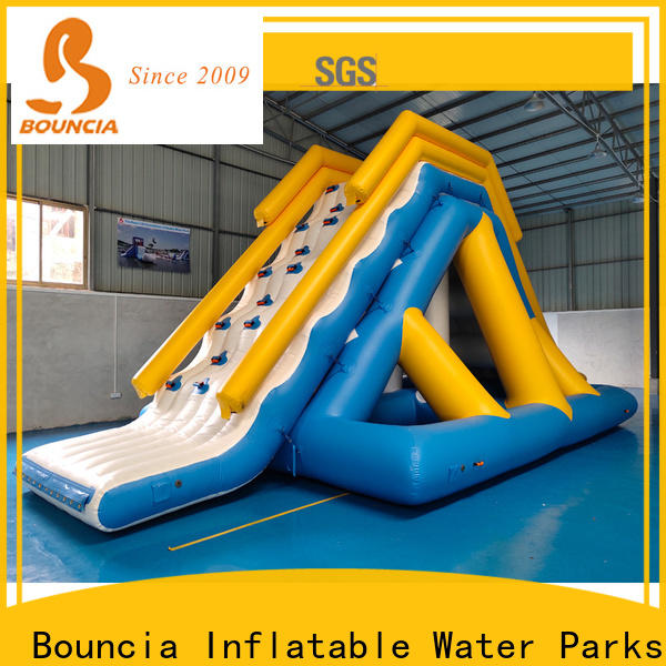stable inflatable floating water park jumping platform manufacturer for adults