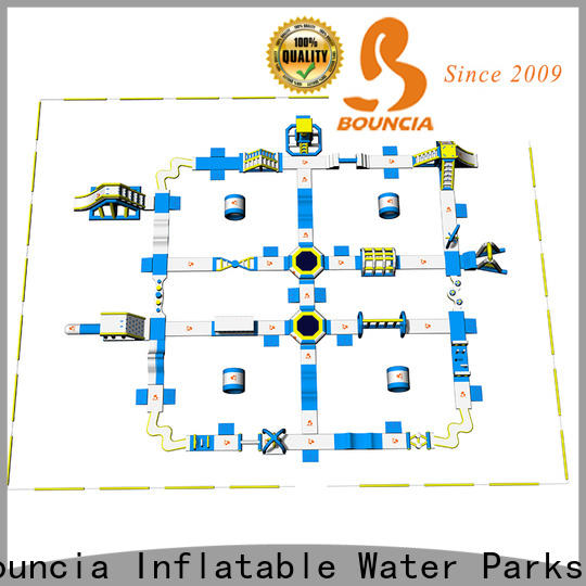 certificated giant water trampoline park floating customized for lake