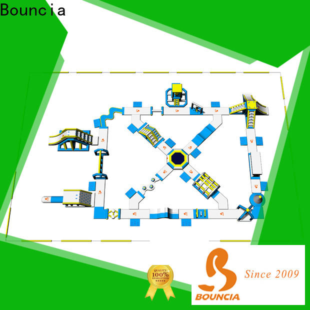 Bouncia commerciall inflatable pool park factory for lake
