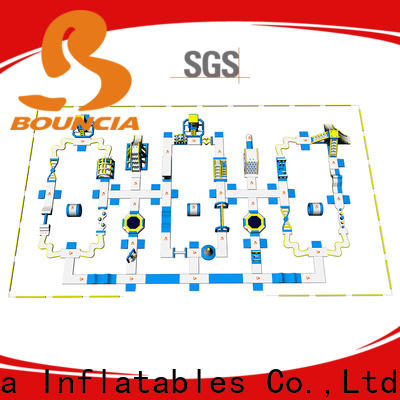 Bouncia certificated buy inflatable water park customized for lake