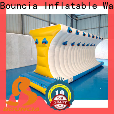 Bouncia certificated floating water playground customized for outdoors