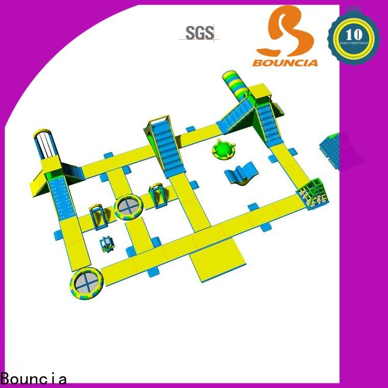 Bouncia tarpaulin largest inflatable water park for business for kids