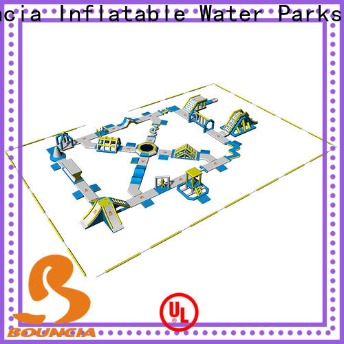 Bouncia 100 people inflatable park for adults manufacturers for lake