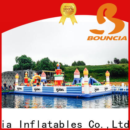 Bouncia quality inflatable lake obstacle course company for Young child