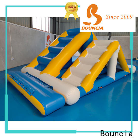 stable inflatable floating water park jumping platform manufacturers for pool