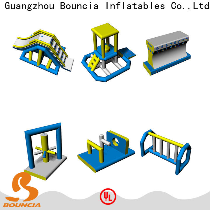 Bouncia 100 people trampoline water park Supply for kids