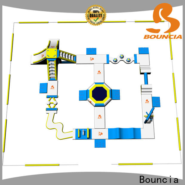 Bouncia design slippery slide for swimming pool manufacturers for lake