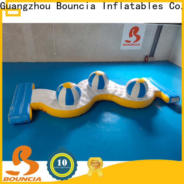 Bouncia one station inflatable water park price manufacturers for pool