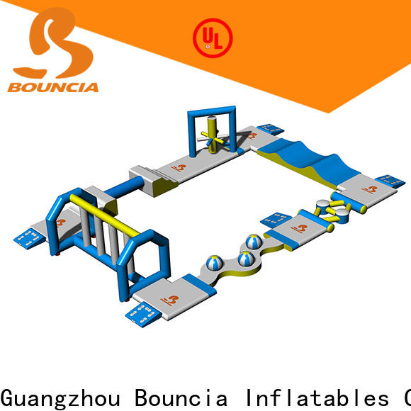 Bouncia toys inflatable water obstacle course factory for kids
