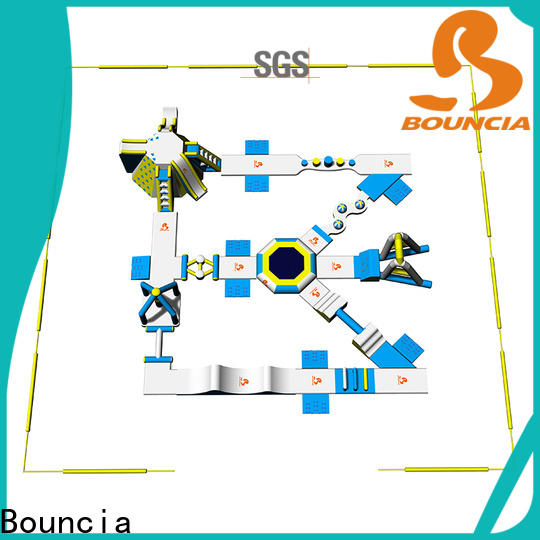 Bouncia inflatable lake obstacle course personalized for lake