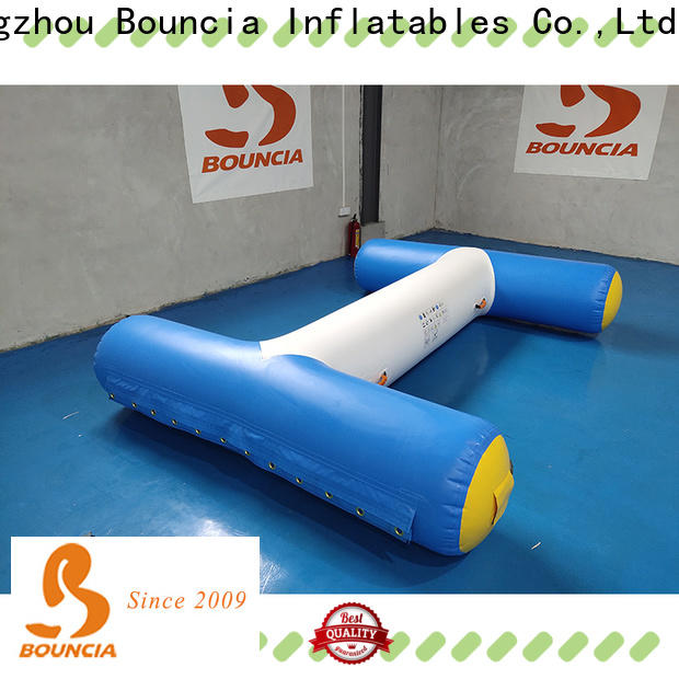 Bouncia climbing inflatable lake obstacle course manufacturers for kids