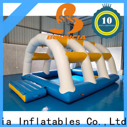 Bouncia bouncia inflatable floating water slide for outdoors