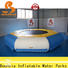 New inflatable water amusement park jumping platform customized for kids