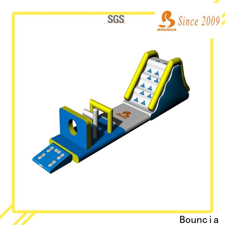 Bouncia obstacle commercial grade inflatable water park manufacturers for lake