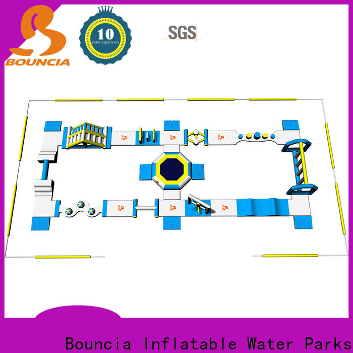 New price of inflatable water slide park factory for lake