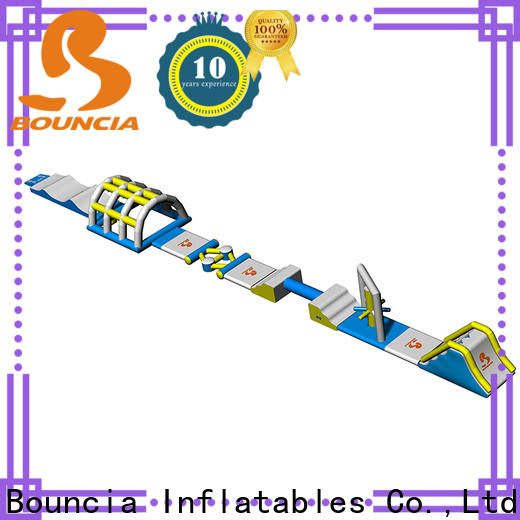 Bouncia slide inflatable water park price customized for lake