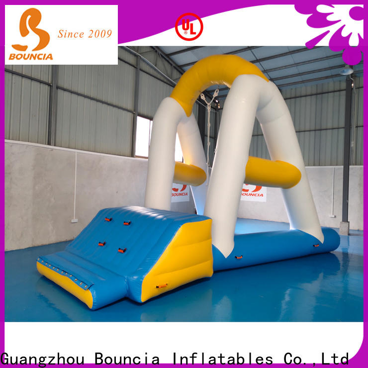 Bouncia climbing inflatable water park factory manufacturers for pool