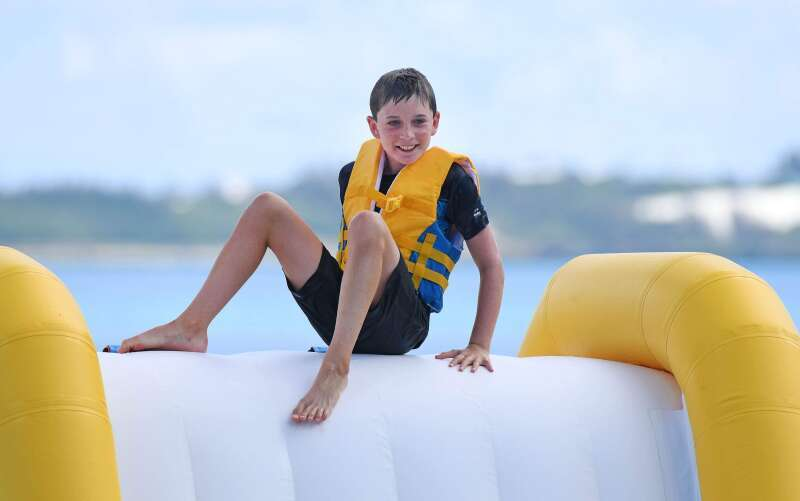 Bermuda  Water Park Inflatable Sports Made By Bouncia