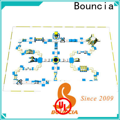 Bouncia pvc inflatable lake playground from China for outdoors