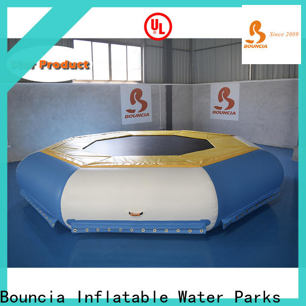 Bouncia trampoline cheap inflatable water slides for business for pool