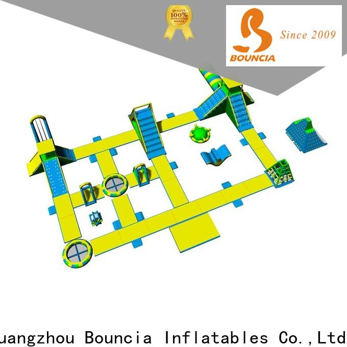 Bouncia pvc inflatable floating water slide company for outdoors