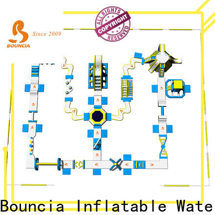 Bouncia 80 people outdoor pool slide inflatable personalized for lake
