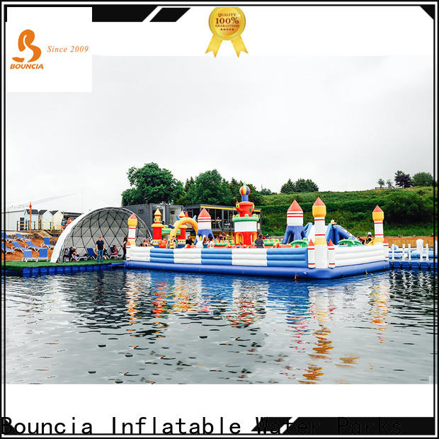 Bouncia inflatable water slide for lake factory for student
