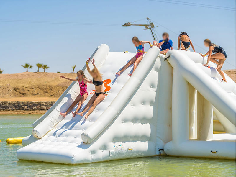 Bouncia Lake Inflatables Water Park Games / Egypt Inflatable Aqua Park Equipment For Adults