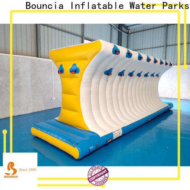 Bouncia tarpaulin inflatable water slide park for pool