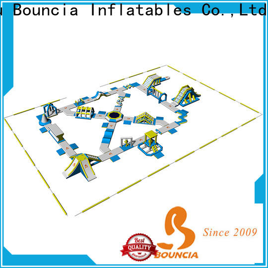 certificated inflatable water obstacle course bouncia supplier for kids