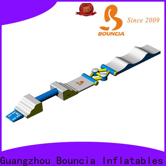 Bouncia obstacle family land water park for business for outdoors