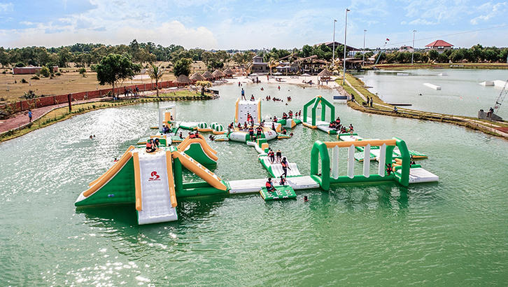 Siem Reap Inflatable Aqua Park Manufacturer