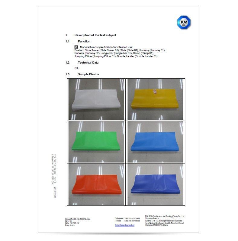 TUV test reports of high temperature materials