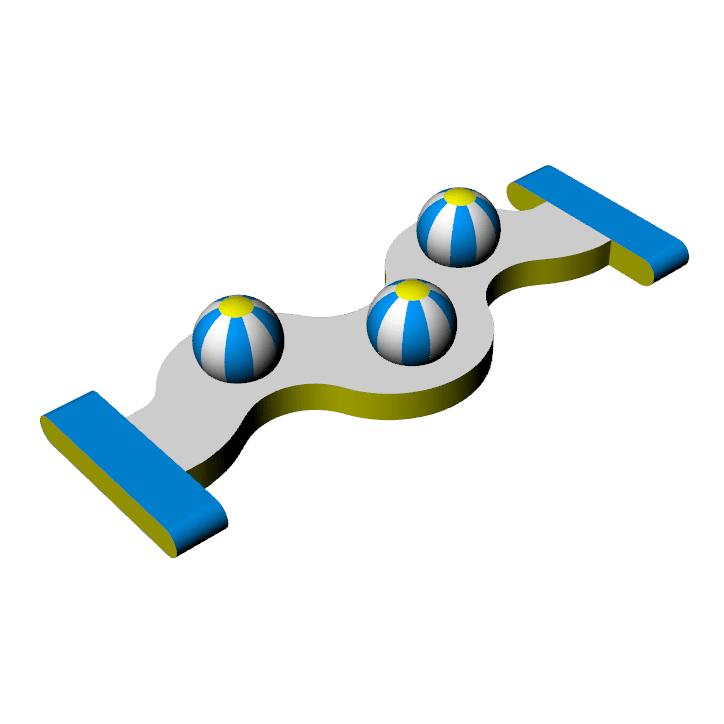 Bouncia -Inflatable Aqua Park Games -3 caps
