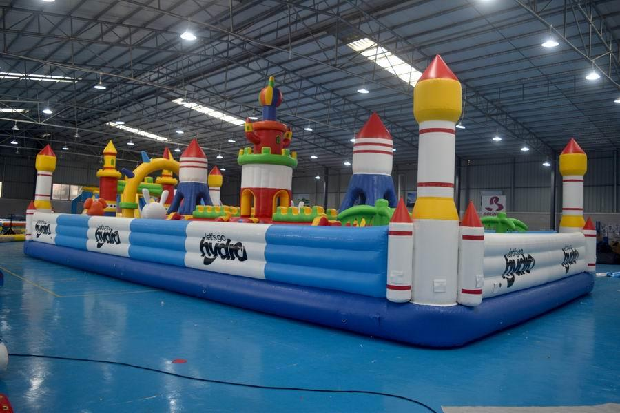Bouncia inflatable water slide park factory for children-1