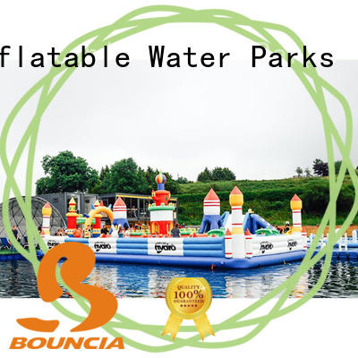 Bouncia Custom kids inflatable water park manufacturers for student
