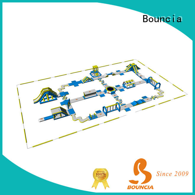 Bouncia 100 people inflatable floating water park wholesale for kids